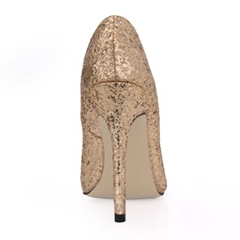 Noble Glittering Upper Stiletto Heels Closed Toe Prom/Evening Shoes