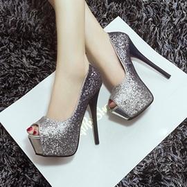 Trendy Sequins Peep-Toe Prom Shoes