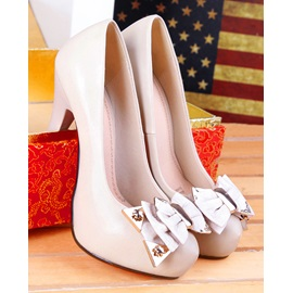 Bowknot Decorated Solid Color Pumps