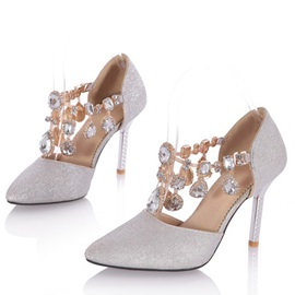 Rhinestone Pointed Toe Dress Pumps