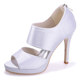 Satin Bandage Peep Toe Dress Sandals