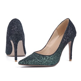 Gradient Color Sequins Prom Shoes
