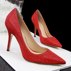 Pointed Toe Stiletto Heel Prom Shoes