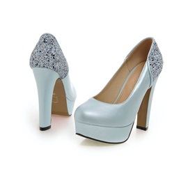 Sequins PU Platform Prom Shoes