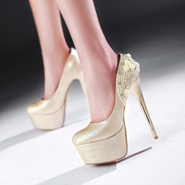 Beading Sequins Stiletto Heel Prom Shoes