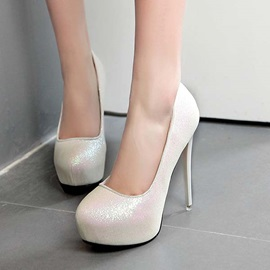 Sequins Round Toe Prom Shoes