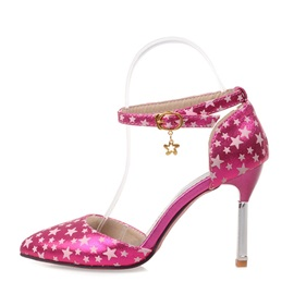 Stars Printed Ankle Strap Prom Shoes