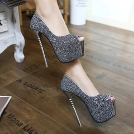 Sequins Stiletto Heel Prom Shoes