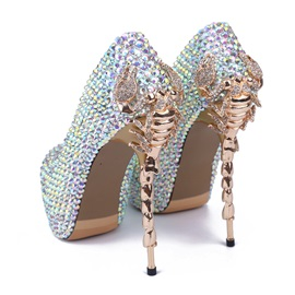 Luxurious Rhinestone Dress Pumps