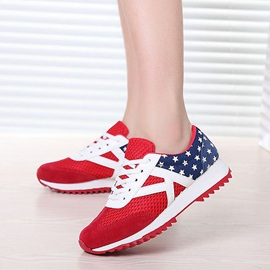 Stars & Contrast Color Lace-up Athletic Shoes