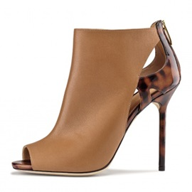 Peep Toe Stiletto Heel Women's Boots