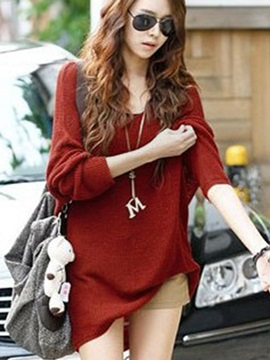 Deluxe Korean Style Loose Knit Long Plus Size Knitwear