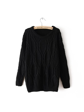 Deluxe Loose Bat Sleeves Euramerican Casual Sweater