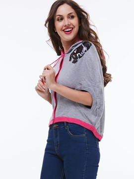 Chic Loose Bat Sleeve Double Sided Sweater