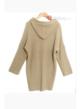 Chic Korean Hot Selling Bat Sleeves Woolen Yarn Overcoat