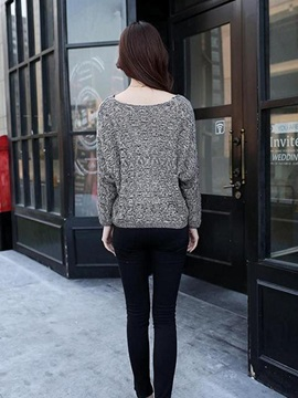 Hollow Batwing Sleeves V-Neck Sweater