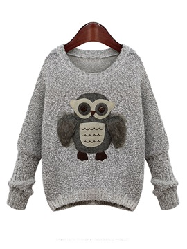 Cute  Animal  Pattern  Short  Sweater