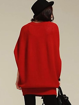 Casual Batwing Sleeves Sweater