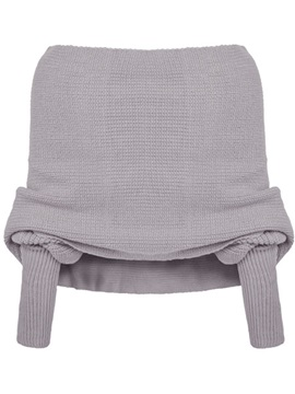 Stylish off Shoulder Collar Short Sweater
