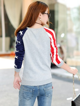 Special Pattern Raglan Sleeves Short Sweater