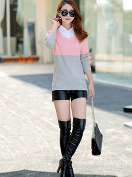 Stylish Double Layer Slim Sweater