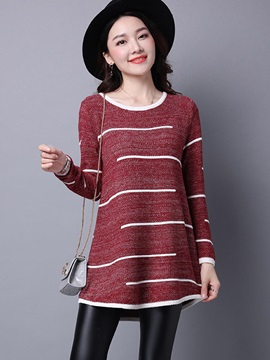 Stylish Multi Color Mid-Length Sweater