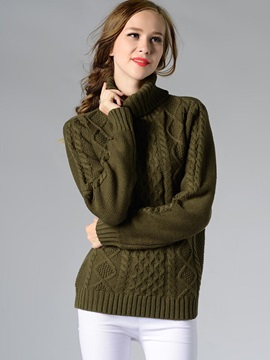 Stylish Multi Color Turtle Neck Sweater