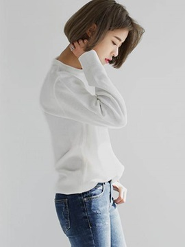 Simple Korean Style Multi Color Loose Sweater