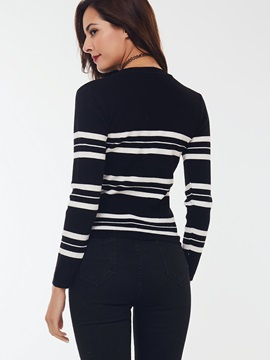Casual Stripe Slim Sweater
