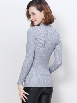 Multi Color Turtleneck Bottoming Sweater