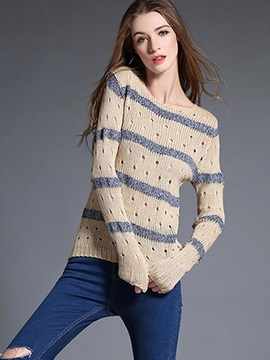 Casual Textured Pattern Loose Sweater