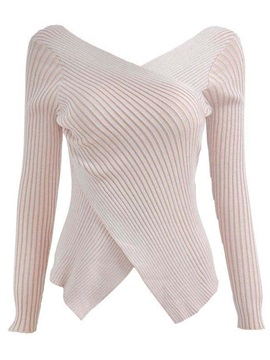 Stylish Asymmetric Hem Slim Sweater