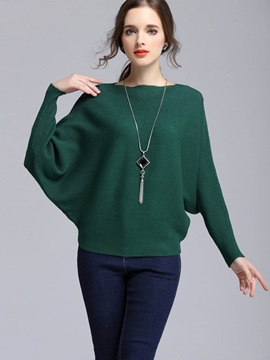 Stylsih Batwing Sleeve Thick Sweater