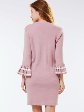 Stylish Flare Sleeve Long Sweater