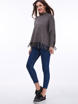 Stylish Tassel Loose Sweater