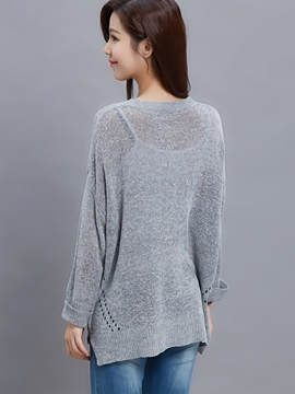 Stylish Hollow Loose Sweater