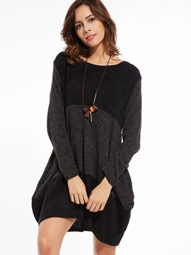 Stylish Color Block Pullover Sweater