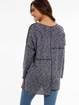Stylish Round Neck Mid-Length Sweater