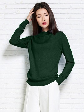 Stylish Stand Collar Pullover Sweater