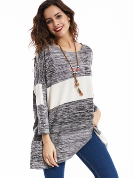 Stylish Pullover Color Block Sweater
