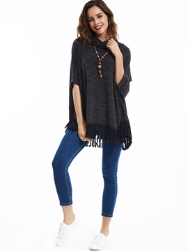 Stylish Tassel Plain Sweater
