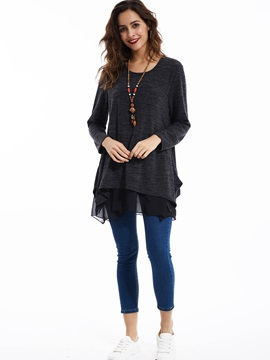 Stylish Patchwork Pullover Sweater
