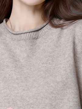 Stylish Round Neck Color Block Sweater