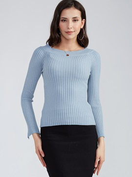 Stylish Slim Round Neck Plain Sweater