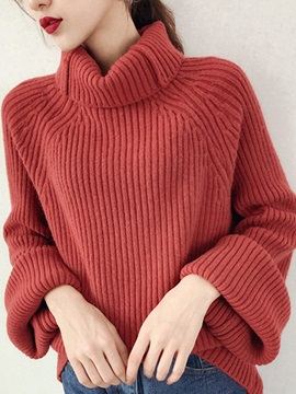 Long Sleeve Mid-Length Women's Sweater