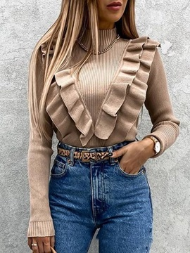 Stringy Selvedge Long Sleeve Fall Women's Sweater