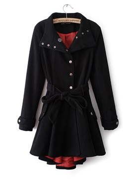 New Graceful Woolen Women's Coat