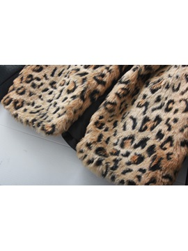 Luxury New Europe Style Leather Leopard Print Overcoat