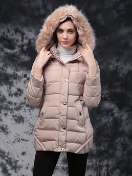 Special Button Warm Hoodie Overcoat