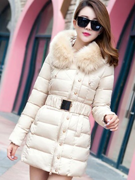 Splendid Zipper Warm Collar Overcoat